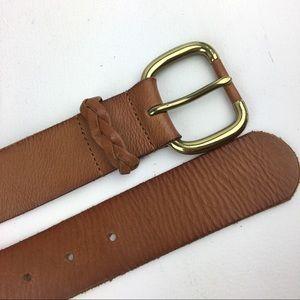 Banana Republic women's leather belt M tan